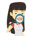 woman brushing her teeth vector image vector image