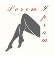 Woman legs logo vector image vector image
