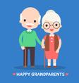 happy grandparents vector image