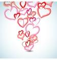 watercolor hearts background vector image