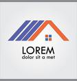 home roof shape logo vector image