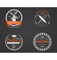 Set of bakery labels icons badges and design vector image