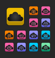 Cloud computing icon set gummy theme vector | Price: 1 Credit (USD $1)