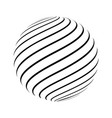 abstract striped spheres vector image