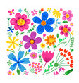 amazing floral set of flowers vector image