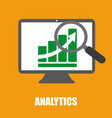 analytics a graph on screen vector image vector image