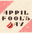 april fools day text is from beautiful letters vector image vector image