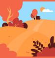 autumn landscape public park fall season vector image vector image