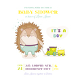 Baby Shower or Arrival Card - Baby Hedgehog vector image