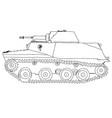 battle tank doodle style vector image