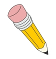 Big yellow pencil vector image vector image