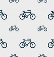 bike icon sign Seamless pattern with geometric vector image vector image