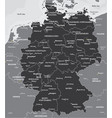 black and white map of germany vector image vector image