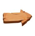 blank wooden right arrow wood signboard vector image vector image