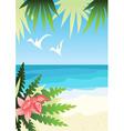 bright sunny beach vector image