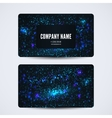 Business card front and back with abstract cosmic vector image vector image