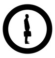 businessman with briefcase standing man with a vector image vector image
