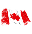 Canada Flag Grunge vector image