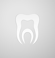 Canal in the symbol tooth vector image vector image
