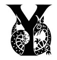 capital letter y with gargoyle vector image vector image