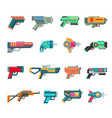cartoon gun toy blaster for kids game with vector image