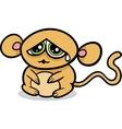cartoon kawaii sad monkey vector image