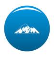 climbing on mountain icon blue vector image