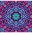 Color Abstract Geometric Retro Pattern vector image vector image