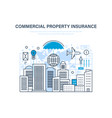 commercial property insurance crediting vector image vector image