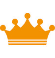 crown icon in trendy flat style isolated on white vector image vector image