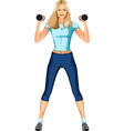 Cute blond fitness woman vector image vector image