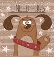 cute funny dog - cartoon vector image vector image