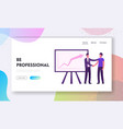 director congratulate worker for successful work vector image vector image