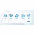 discrimination types onboarding mobile app page vector image vector image