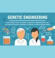 doctor genetic engineering concept banner flat vector image vector image