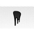 drip paint 3d ink stain drop melt liquid vector image vector image