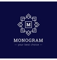 elegant simple monogram logo Geometric vector image vector image