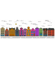 europe house or apartments set of cute vector image vector image