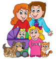 family theme image 3 vector image vector image