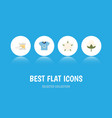 flat icon cotton set of bud knitting blouse and vector image vector image