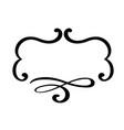 flourish vintage frame swirl vector image