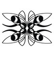 free style natural ornament design on white vector image vector image