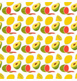 fruit pattern with coloring doodle watermelon vector image