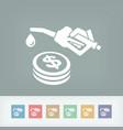fuel price icon vector image vector image