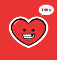 funny heart character love you vector image