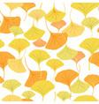ginkgo yellow vector image vector image