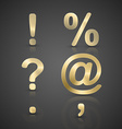 Gold Alphabet Set vector image vector image