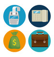 gst time set elements icons vector image