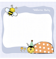 happy birthday card with ladybug vector image vector image