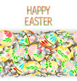 happy easter border seamless background vector image